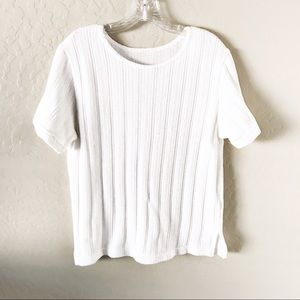 Tops - White Knit Top